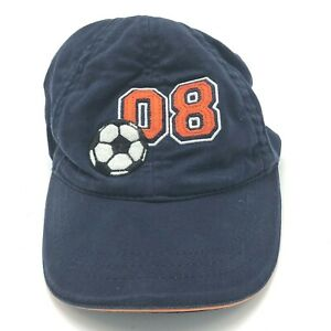 08 Soccer Sports Hat Cap Toddler 2 to 4T Strapback Blue