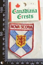 VINTAGE NOVA SCOTIA CANADA EMBROIDERED SOUVENIR PATCH WOVEN CLOTH SEW-ON BADGE