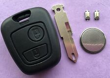 Peugeot 206 2 Button Remote Key Fob Case Repair Refurbishment Kit