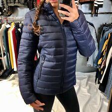 Piumino donna giubbotto giubbino giacca 100 grammi leggero cerniera nuovo M-005