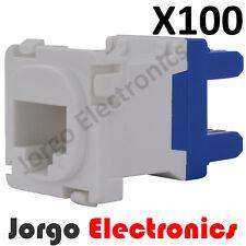 100 CLIPSAL COMPATIBLE CAT6 RJ45 Data Inserts Jacks X100