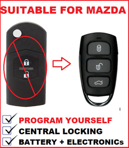 Remote Fob  Suitable for Mazda 2 - 6 - CX7 - CX9  2007 2008 2009 2010 2011 2012