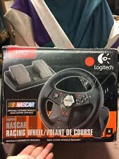 Logitech Nascar Racing Wheel & Pedals for PC Vibration Feedback Race Simulation