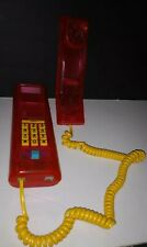 Swatch Twin Phone Pink Jelly Color 80s 90s Translucent Clear See-Thru Telephone