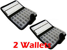 2 X Proteam 7 Day Medicine Pill Black Wallet Travel Holder Organiser With Clip