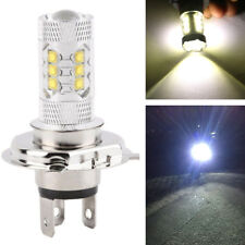 1x H4 Motorcycle COB LED Hi/Lo Beam Headlight Fog Driving Light Lamp White 6000K