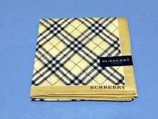"AUTHENTIC BURBERRY Official  License Scarf Handkerchief  58cm 23"" 229 Beige"