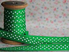 3m Bertie's Bows verde esmeralda con Blanco Polka Dot 9mm cinta de grogrén, Envoltura