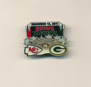 2011 Kansas City Chiefs vs Packers NFL Football Game Day Pin