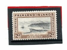 Falklands Islands GV 1933 2d black & brown sg 130 HH.Mint