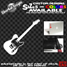 Telecaster Style Guitar Custom Vinyl sticker Car Window Gibson Fender Laptop