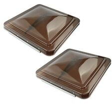 "2 Pack Smoked 14"" x 14"" Replacement Roof Vent Cover Camper RV Trailer Ventline"