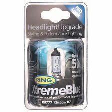 Ring Halogen Headlamp - 12V 55W H7 Px26d - Xtreme Blue + 50% (RU777)