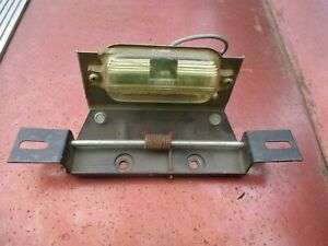 1962-1964 Buick Rear Licence Plate Holder With Hinge And Light Assembly