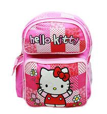 "Sanrio Hello Kitty Fullbody Flowers 16"" Canvas Pink Grils School Backpack"