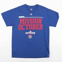 2016 CHICAGO CUBS Mission October Blue Sports T-Shirt Size Men's Medium