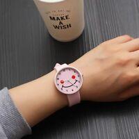 Children's Watch Fashion Luxury Women Smile Teenage Girl Wristwatch Round Gift