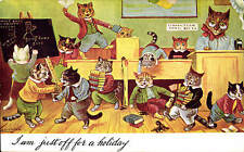 Louis Wain Cats. I Am Just Off for a Holiday in Herriot Series.