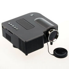 Mini Projecteur LED Portable 320x240 Haut-Parleur USB Carte SD PC A/V