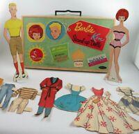 Vintage Travel Ken & Barbie Stand-up Paper Dolls/Cutout Clothes by Mattel 1962