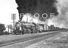 SOUTHERN PACIFIC - Fine 8x10 B&W PRINT: Ex B&M 2-8-4 3502 freight, Antelope 9/49