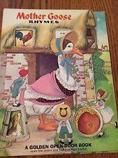 Mother Goose Rhyme A Golden Open-Door Book - 1965 Board Book