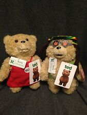 "2 Talking Ted Bears Rated R 8"" Plush New 2013"