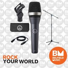 AKG D5 Dynamic Microphone Stage Pack w/ Mic Stand & 5m Lead - Brand New - BM