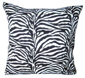 AL126a Black Zebra Pattern Cotton Canvas Cushion Cover/Pillow Case *Custom Size*