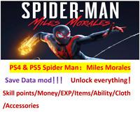 Spider Man:Miles Morales Save Data mod!!!