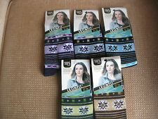 Ladies/Girls cotton socks by Leonfit,sizes 3-5 or 5-7, stripes +geometric logos