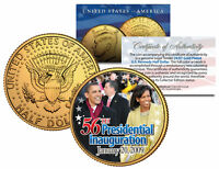 BARACK OBAMA * 56th Inauguration 2009 * 24K Gold Plated JFK Half Dollar US Coin