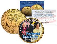BARACK OBAMA * 56th Inauguration 2009 * 24K Gold Plated JFK Half Dollar US Coin