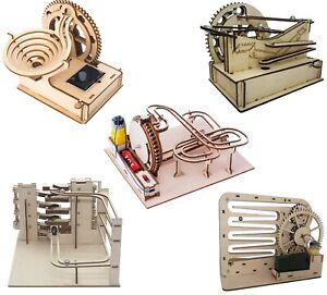 ROAR 3D Wooden Puzzle Waterwheel Coaster Model Kits DIY Lift  Laser-Cut Toys