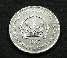 1937 Australian Crown - 92.5% Sterling Silver Coin - Bullion #279