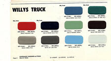 1960 1961 1962 1963 WILLYS JEEP 60 61 62 63 PAINT CHIPS 63 MARTIN SENOUR 3 10PC