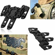 Black Ambidextrous CQC Style Serpa Holster Molle Strike Speed Clip Platform New