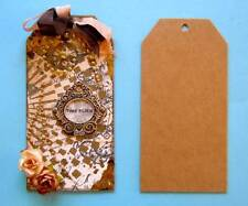 """Pkg of 12 Bare Chipboard Shipping Style Tags 3 1/2"""" x 7"""""""