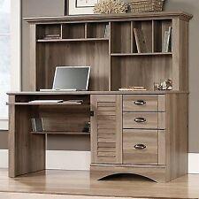 Perfect Sauder Harbor View Computer Desk With Hutch In Salt Oak