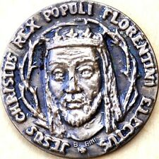 Medaglia commemorativa 1860 1960 Jesus Christus rex populi florentini Firenze
