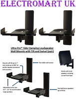 B-TECH BT77 SPEAKER LOUDSPEAKER WALL MOUNT BRACKETS HEAVY DUTY BLACK PAIR