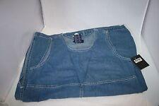 Women  Blue Denim Jean Jumper Dress SZ M Medium Modesty Pockets