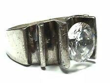 Ring - Mexico - Size 7.75 Vtg Ladies Sterling Silver Travel Engagement