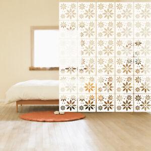 12Pcs White Room Divider Panels Hanging Screen Wall Curtains DIY Home Art Decor