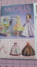 """McCall's Pattern M6903 11 1/2"""" Fashion Doll Clothes & Accessories Box Bags 6903"""
