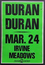 DURAN DURAN Original Concert Poster 1989 Robert Palmer Missing Persons NEW WAVE