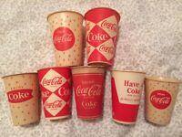 Coca Cola Wax Paper Cup Lot Vintage