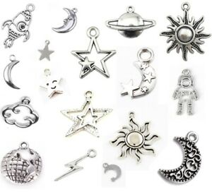 Stars & Space Tibetan Silver CHARMS Necklace Bracelet Jewellery Astronomy UK