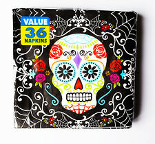 Halloween Day of the Dead Sugar Skull Napkins Festival Bones Party Decorations