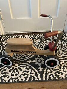 Vintage Radio Flyer Kids Ride On Maple Wooden Scooter